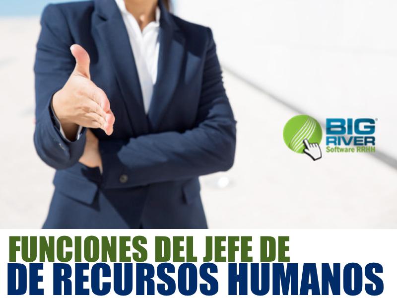 Funciones del Jefe de Recursos Humanos