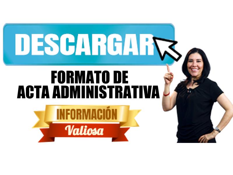 Formato de Acta Administratvia