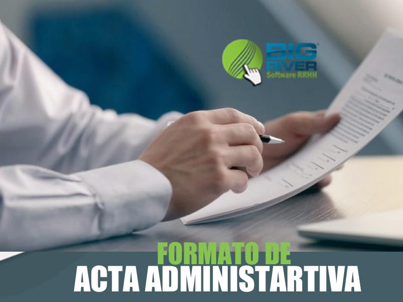 Formato de Acta Administrativa